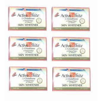 Active White L-Glutathione 60capsules set of 6