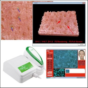 Harga Brand HD 5MP resolution facial skin analyzer/detector Skin Scope.Oily. Acne.Moisture.Comprehensive detection for Beauty Hospita - intl