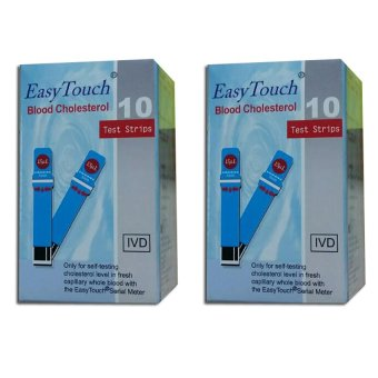 EasyTouch GCU Blood Cholesterol Strips 10's Set of 2 Price Philippines