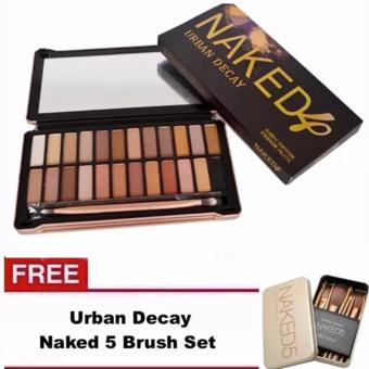 Harga Urban Decay NAKED4 Eyeshadow Palette with FREE Naked5 Brush Set