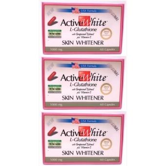 ACTIVE WHITE L-Glutathione (US-Based Formula) 60 Capsules Set of 3