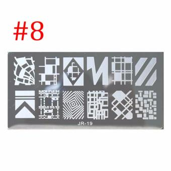 Harga Fashion Nail Art Image Stickers DIY Nail Art Stamp Plates Manicure Tools - intl