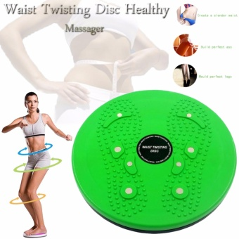 Harga Waist Twisting Disc Healthy Massager (Green)