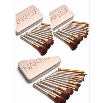 Harga Naked 3 Professional Makeup Brush Set 12 pcs By 3s