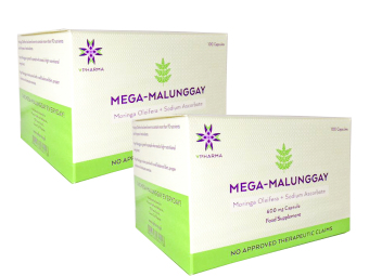 VPharma Mega-Malunggay 600mg Capsules Blister Pack of 100 Set of 2 Price Philippines