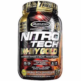 Harga NEW Product!! Muscle-tech Nitro-tech 100% Whey GOLD whey protein isolate- 2.5lbs (Free 7 servings) Double Rich Chocolate