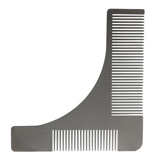 Andux Men's Beard Comb Stainless Steel Beard Styling Shaping Template BXGSZ-01 Silver - intl Price Philippines