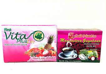 Harga Vita Plus Lite Fruits And Veggies with Mangosteen Natural Health Drink and Cafe Historia Mangosteen Guyabano Healthy Set