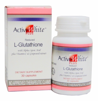 ACTIVE WHITE PLUS Reduced L-Glutathione with Alpha Lipoic Acid Plus Vitamin C and Grape Seed Extract (30 Capsule)