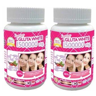 Supreme Glutathione Glutawhite 1500000 mg Softgels Bottle of 30 Set of 2
