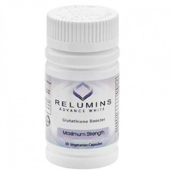 AUTHENTIC RELUMINS ADVANCED WHITE GLUTATHIONE WHITENING BOOSTER - MAX STRENGTH 30 Veggie capsules