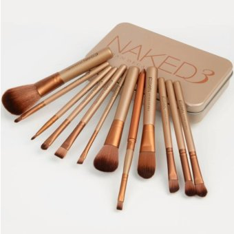 Harga Naked 3 Professional Makeup Brush Set 12 pcs Set