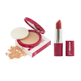 Belo Cosmeticare Face Powder (Natural) with Lipstick (Rose) Price Philippines
