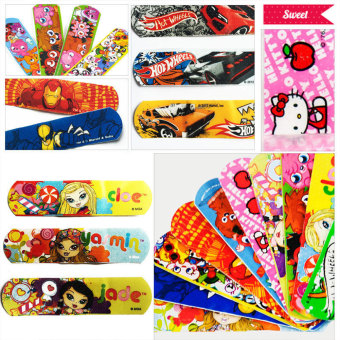 Harga Pack Cartoon Decorative Adhesive Bandages Band Aids Cute Kids Children - intl