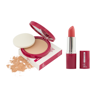 Belo Cosmeticare Face Powder (Natural) with Lipstick (Coral) Price Philippines