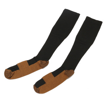 2Pcs Unisex Copper Infused Anti-Fatigue Compression Socks Varicose Vein Stocking L/XL Price Philippines