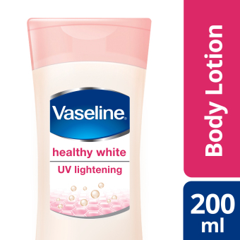 Harga VASELINE HEALTHY WHITE LOTION UV LIGHTENING 200ML
