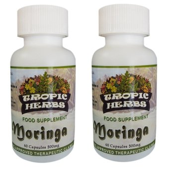 Harga Tropic Herbs Moringa (Malunggay) 100% Pure leaf powder 60 Capsules 500mg Set of 2