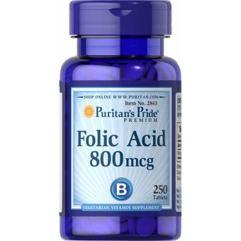 Harga Folic Acid 800mcg Cardiovascular health, Child-bearing Women and Healthy Fetus 250 Tablets Puritan's Pride