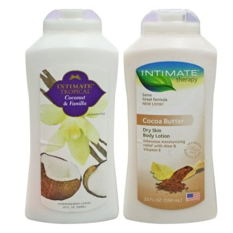 Intimate Body Lotion 590ml Set of 2 (Intimate Tropical Coconut & Vanilla+Intimate Therapy Cocoa Butter Dry Skin Body Lotion) Price Philippines