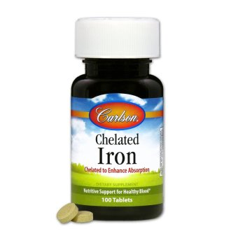 Harga Carlson Chelated Iron Bottle of 100 Tablets