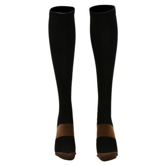 Sporter Unisex Anti-Fatigue Compression Socks Copper Infused Fibers Miracle Stockings S/M - intl Price Philippines