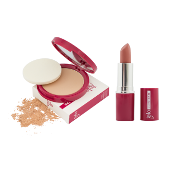 Belo Cosmeticare Face Powder (Natural) with Lipstick (Warm Nude) Price Philippines