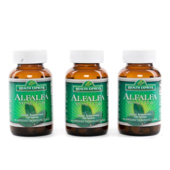 Health Express Alfalfa 500mg 100`s Set of 3 Bottles Price Philippines