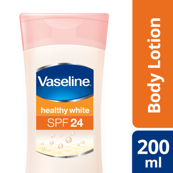 Harga VASELINE HEALTHY WHITE LOTION SPF 24 200ML