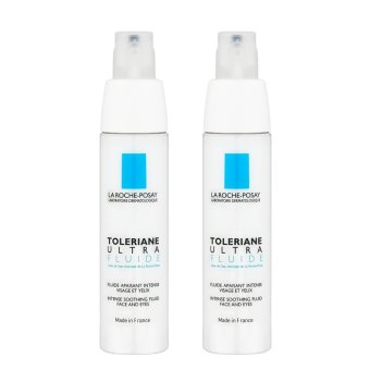 Harga 2 x La Roche-Posay Toleriane Ultra Fluide Intense Soothing Fluid Face and Eyes (Ultra-Sensitive or Allergic Combination to Oily-Prone Skin) 40ml - intl