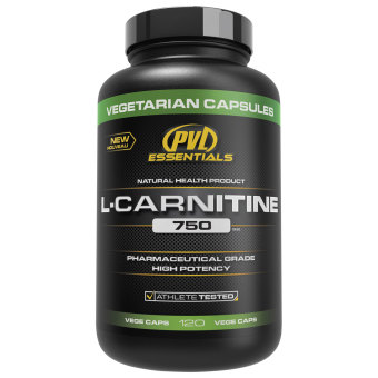 Harga PVL Essentials L-Carnitine 750mg Vegetarian Capsules Bottle of 120