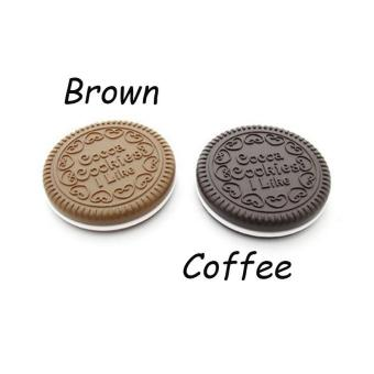 Oreo Shape Make Up Mirrors Portable Chocolate Mirror Brown - intl Price Philippines