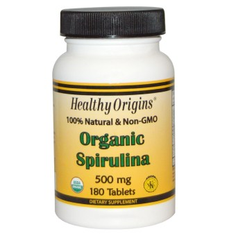 Harga Healthy Origins Organic Spirulina 500 mg 180 Tablets