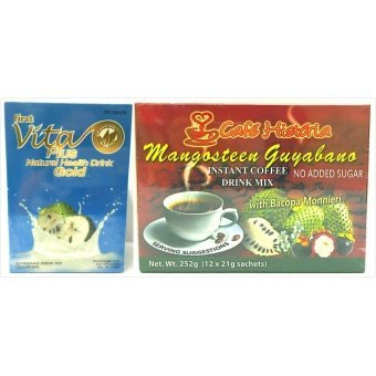 Harga Vita Plus Gold Guyabano Natural Health Drink and Cafe Historia Mangosteen Guyabano Healthy Set