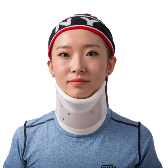Harga Hard Rigid Cervical Collar Neck Brace Traction Device Plastic for Fastening Cervical Vertebra with Chin Support XL size LJ107 HRL - intl