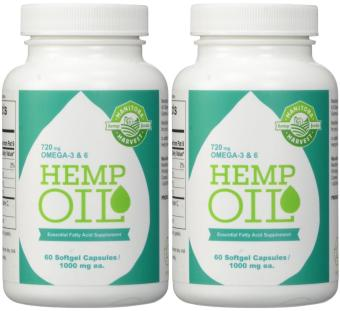 Harga Manitoba Harvest Hemp Oil- 1000mg- 60 Softgels (Pack Of 2)