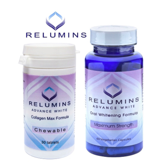 Relumins Advance White Oral Glutathione and Collagen Max Chewables Set