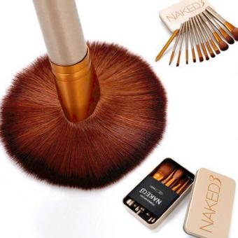 Harga QF Naked 12 pcs Professional 3 Power Makeup Brushes