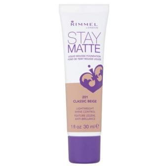 Harga Rimmel Stay Matte Liquid Mousse Foundation (Classic Beige)