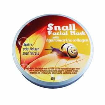 Harga P&P Snail Facial Mask with Hydromarine Collagen 90g