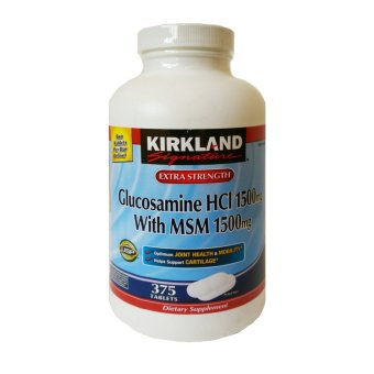 Harga Kirkland Signature #249375 Extra Strength Glucosamine HCl 1500mg with MSM 1500mg, 375 Tablets