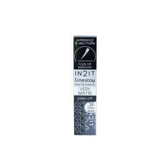 Harga IN2IT LINESTAY VERY BLACK MATTE FLEXI-TIP EYELINER 03-LVM01