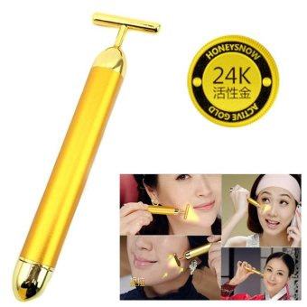 24K Gold Beauty Bar Facial Slimming Massager Slimming Face Massager Stick Lift Skin Tightening Wrinkle Stick Bar Face Skin Care - intl Price Philippines