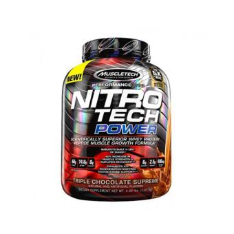 Harga Muscletech Nitro-Tech Power: Muscle and Strength Amplifying Protein Powder - 4lbs - Triple Chocolate Supreme