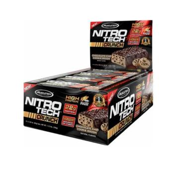Harga MuscleTech Nitro-Tech Crunch: Incredible Muscle Building Protein Bar - 12/box - Cookies and Cream