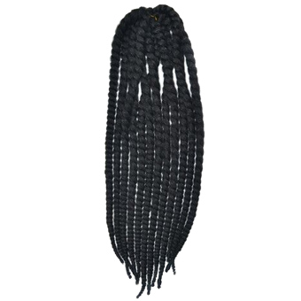 Harga 24inch Havana Mambo Twist Crochet Braid Hair Synthetic Senegalese Twists Braiding Hair Extension For African American Women Black