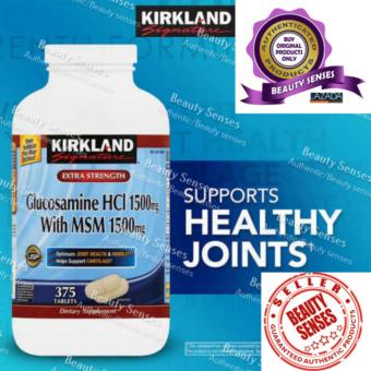 Harga Kirkland Signature Glucosamine HCI 1500mg with MSM Tablets 1500mg, Bottle of 375
