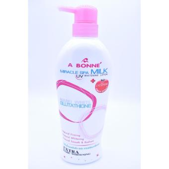 A Bonne Miracle Spa Milk UV Whitening Lotion with Lycopene Nano White Glutathione 500ml Price Philippines