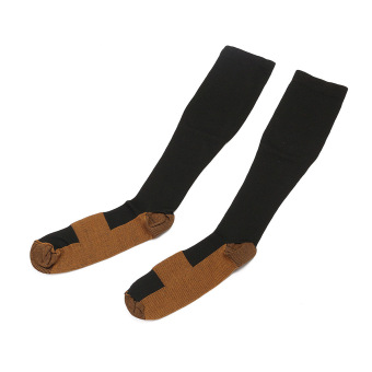 2Pcs Unisex Copper Infused Anti-Fatigue Compression Socks Varicose Vein Stocking S/M - Intl Price Philippines