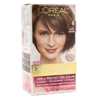 Harga Loreal Paris Excellence Cream Hair Color 6 (Light Brown)